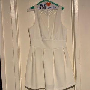 White v shaped dress
